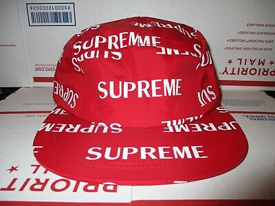 4b61ebe2f09 Supreme reflective 3m REPEAT Logo 5 panel Taped Seam Camp Cap RED jacket  bag vtg