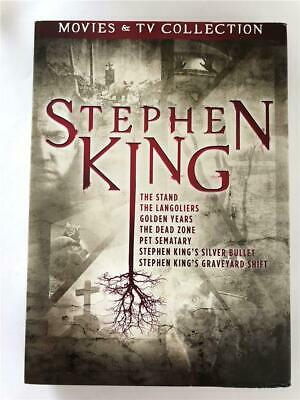 NEW Stephen Kings 7 Movies & TV Collection DVD Pet Sematary, The Stand, Langolie