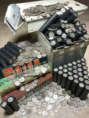 Old Mercury Dime Silver Bullion Bank Rolls Vintage Lincoln Wheat Cents Us Penny!