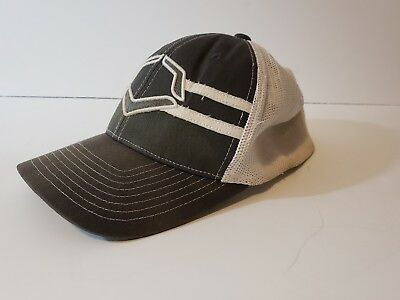 c5daa9985bc ... best evoshield flex fit mesh flex v grandstand fitted trucker cap 2  gray white euc c5504