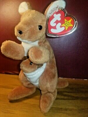d2cd57d044d POUCH The Kangaroo Ty Beanie Baby 1996 Tags Attached ~RETIRED~RARE FREE  SHIPPING