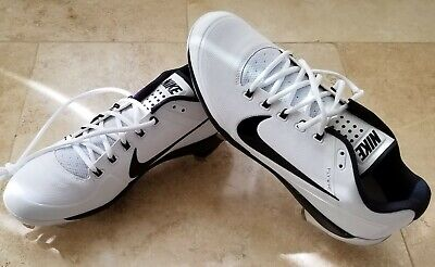 low priced 18a24 0fb60 Nike Men s Air Clipper 17 Metal Performance Baseball Cleats 880261 sz10  White