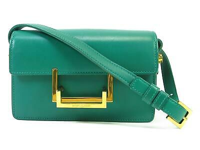Auth Saint Laurent Small Lulu Shoulder Crossbody Bag Green Leather Used  Vintage a35f55a067
