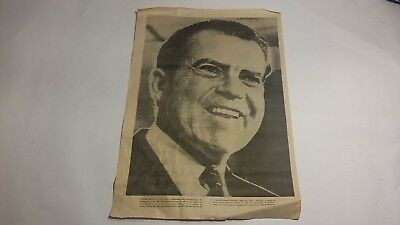 Vintage Richard Nixon Poster - 1968 Seattle Post Intelligencer POSTER series
