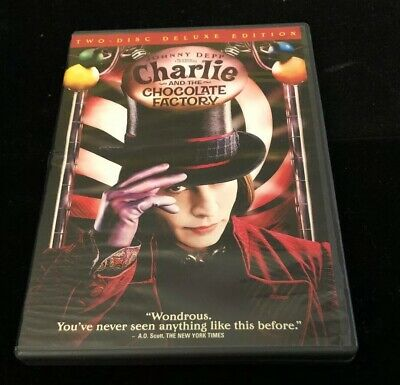 Charlie and the Chocolate Factory DVD 2005 Deluxe Edit Johnny Depp