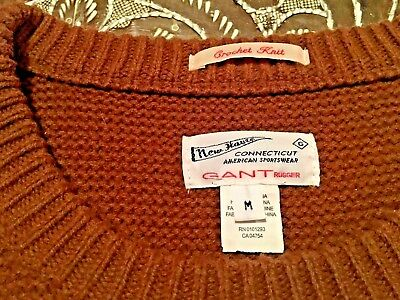 53aa982b26 Gant Rugger Wool Blend Ribbed Crewneck Sweater MSRP $175 Light Brown size M