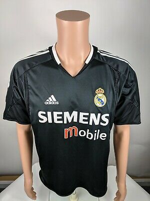 8ade45b54 Real Madrid 2004 2005 Away Football Shirt Jersey Medium Siemens Size Medium