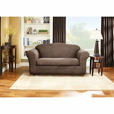 Sure Fit Stretch Faux Leather Sofa Loveseat Separate Seat