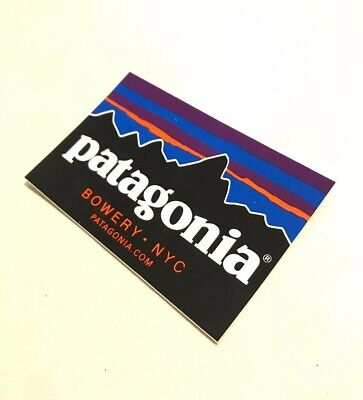 "15d0bbca6ca18 NEW 4"" x 2.5"" Patagonia BOWERY NYC Fitz Roy Logo Mountain Sticker Decal"
