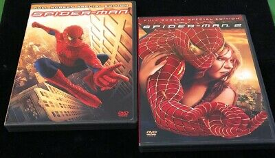 Spiderman 1 and 2 DVD's- 2 Disc Special Full Screen Editions