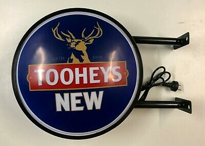 TOOHEYS NEW BEER Bar Lighting Wall Sign Light LED Man Cave Fathers Birthday Gift