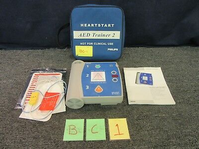 Philips Heart Started AED Trainer 2 Kit Learning CPR Adult M3752A DefibrIllator