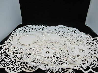 10 Assorted Styles And Sizes Of Doily Die Cut..white..cardmaking..scrapbooking
