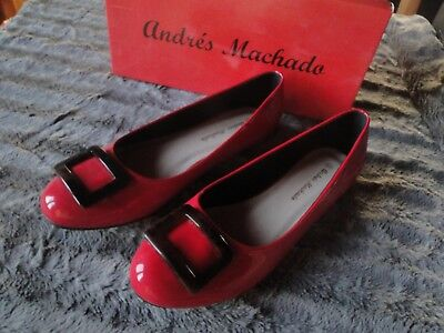 2f6d9d2f60e46 Chaussures Femme Mocassin Ballerine Rouge Chic Pointure 44 Marque Andres  Machado