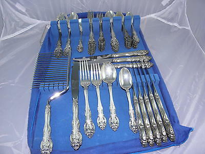 Fabulous Gorham 58pc Sterling Silver La Scala Flatware Set Service for 9