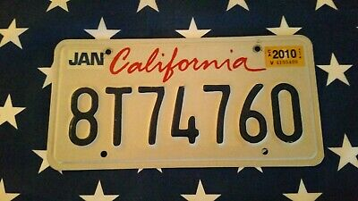 plaque d'immatriculation California Us 8T744760  Usa license plate