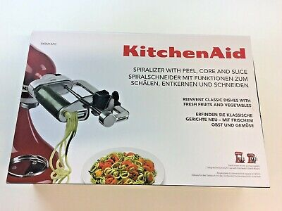 AS NEW KitchenAid Spiralizer Attachment for peeling cutting slicing etc 5KSM1APC