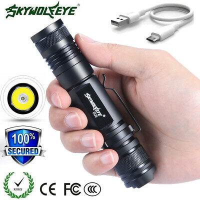 5PC 20000LM ZOOM Tactical XML-T6 LED Flashlight 18650 USB Rechargeable Torch lot