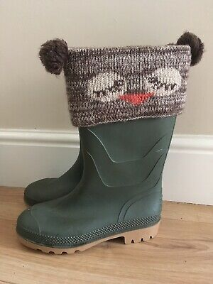 Girls Boot / Wellington Boot Toppers Owl Cute