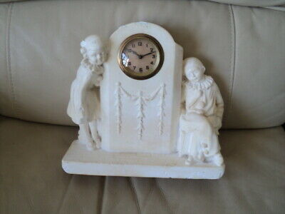 Antique french? Figural mantle clock is Working but is Running a bit slow