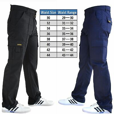 Combat Cargo Mens Trousers Work Wear Black Navy Size All 28 To 52 SNS APPAREL