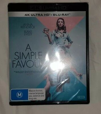 A Simple Favour (4K UHD & Blu Ray) Brand NEW & Sealed