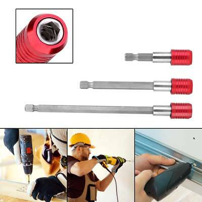 3X Magnetic Screwdriver Extension 1/4 Hex Shank Holder Drill Bits Quick Release
