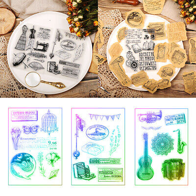 DIY Crafts Clear Scrapbooking Silicone Rubber Retro Transparent Stamp
