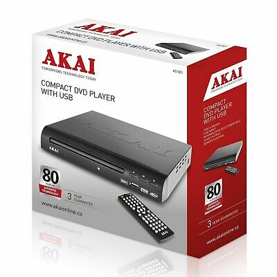 Akai Compact DVD Player with USB - Multi Region - A51002 Brand New Fast Post