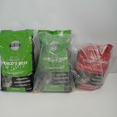 Large Bundle Of World Best Cat Litter 1 x Red Bags and 2 x Green Bag 19kg
