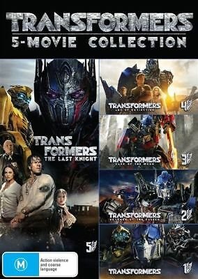 Transformers 5 Movie Collection - Brand New Sealed Region 4 DVD -