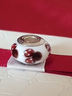 Pandora Murano Charm Disney Classic Minnie Mouse bead Silver S925 ALE New