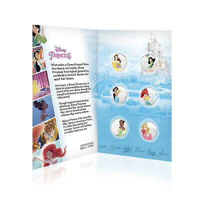 Disney Princess Gift for Her 50p Shaped Collectable Silver Coin Collector Bundle