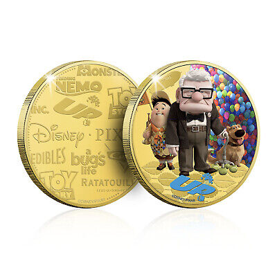 Disney Pixar Gifts Collection 24 Carat Collectable Gold Coin Medal Up Edition