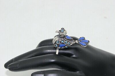 Afghan Statement Stone Bird Ring Cocktail Ethnic Tribal Costume Jewellery Boho