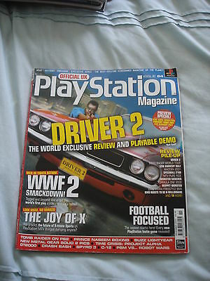 Official UK Playstation magazine with disc  issue # 64 - Driver 2
