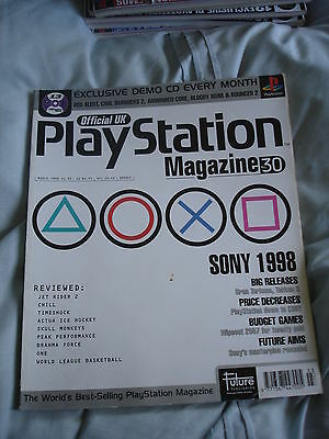 Official UK Playstation magazine with disc  issue #30 - Sony 1998