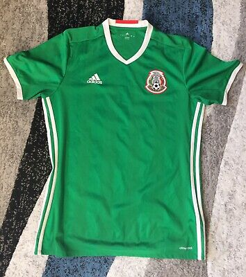 5c38da2ce4d ADIDAS CLIMACOOL GREEN WHITE RED Mexico National Soccer Team Jersey ...