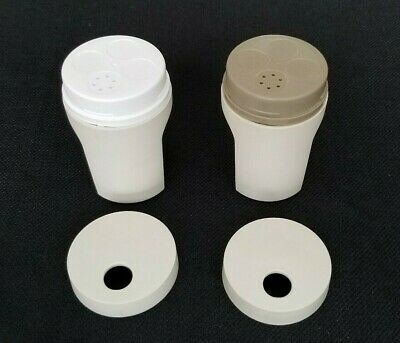 Tupperware Salt & Pepper Shakers #1471 -Beige Almond  Made In USA