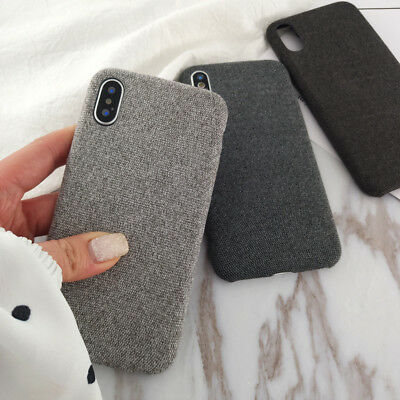 Soft Fabric Shockproof Cover Case For iPhone XS Max XR 6 6s 7 8 Plus X Back Case