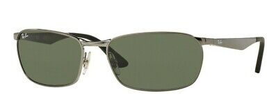 7df94b4c38 AUTHENTIC RAY-BAN MENS Sunglasses RB3534 Gunmetal 004 Size 62 ...