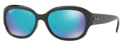 d5544e3dae Sunglasses Ray-Ban CHROMANCE RB4282CH 601 A1 55 Black Green Blue Mirror  Polarize