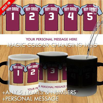 Personalised West Ham United Magic Mug Football Gift Dressing Room 2017-18