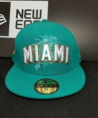 MIAMI DOLPHINS NEW Era 59Fifty Official 2012 NFL Draft Hat Cap Size ... c8196a7e6