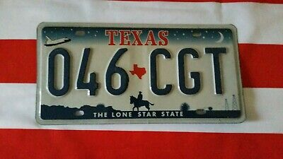 Plaque d'immatriculation Texas 046-CGT USA US license plate