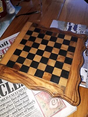 Hand Made Wooden compendium  . Set Games Chess  Draughts uk