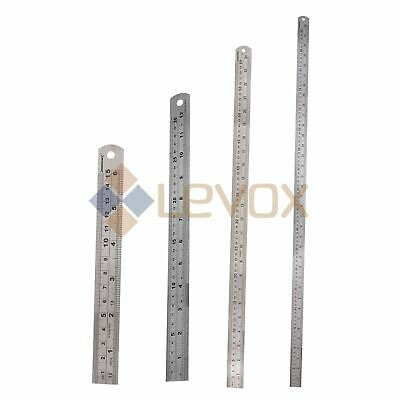 "6''/12""/24""36"" METAL RULE STEEL RULER 150/ 300/ 600/ 900mm MEASURING cm"