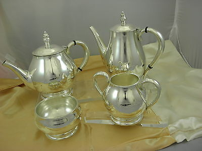 International Royal Danish Pattern Solid Sterling Silver 4pc Coffee &Tea Set