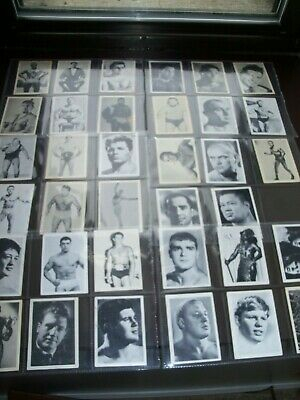Lot of (35) 1964 Somportex Wrestling Cards TV Wrestlers Starr O'Connor Duranton