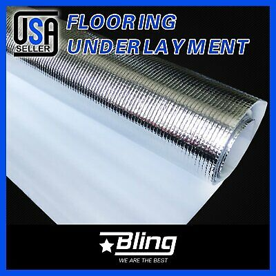 Flooring Underlayment Underlay 800sqft 3mm Silver Foam Laminate Engineered Wood